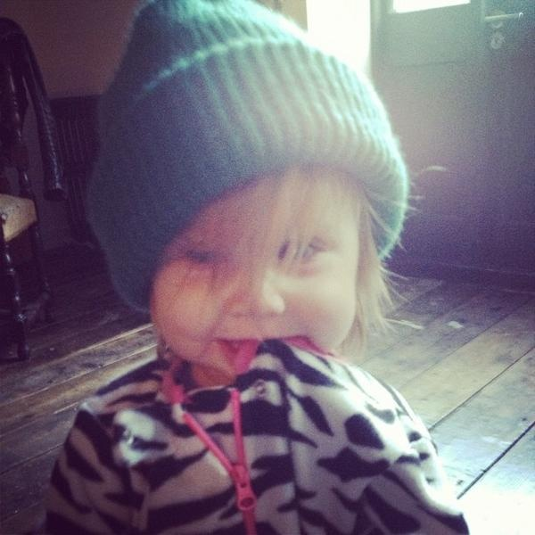 Somebody's been with Harry too much...she's rocking that hat just like Uncle Harry