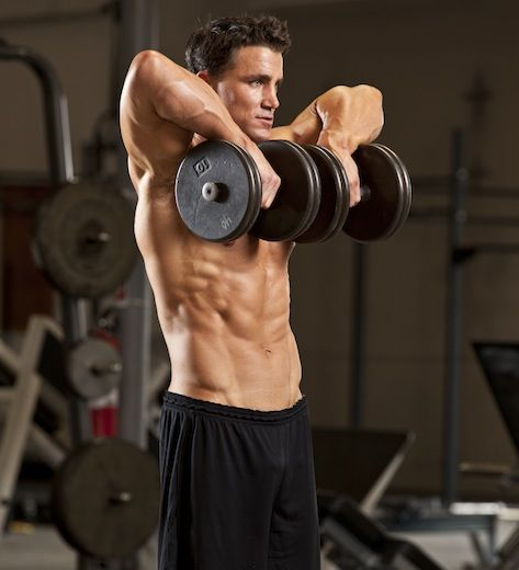 3-D Shoulder Circuit   All exercises should be performed in a continuous, non-stop circuit.   Dumbbell Shoulder Press  To begin the circu...