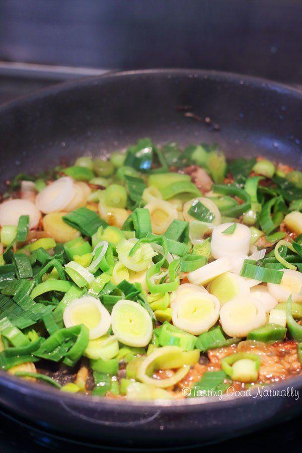 Tasting Good Naturally : Poireaux aux épices colombo #vegan