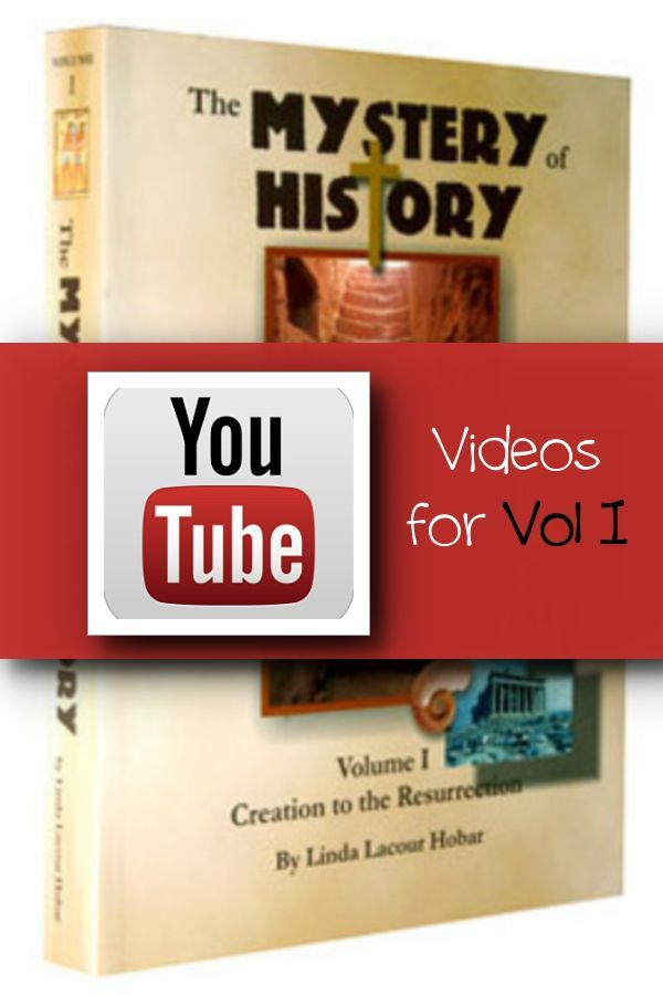 YouTube videos for Mystery of History Volume I. Please screen all videos for your family. I will be adding second semester's videos later this fall.
