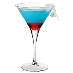 Colorful Fourth of July Cocktail   1 1/2 ounce vodka   1/2 ounce triple sec   1/2 ounce sweet & sour   1/2 ounce blue curacao   1 dash grenadine   Mix all ingredients, except grenadine, in a shaker and chill. Serve in a martini glass. Add grenadine.