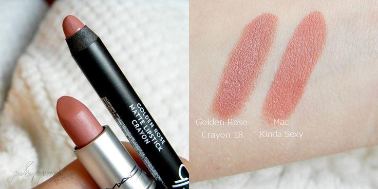 MAKEUP NER(e)D: Golden Rose Matte Lipstick Crayon