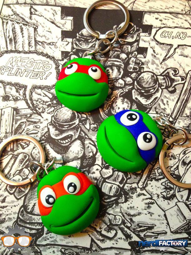TMNT key rings hand-made!