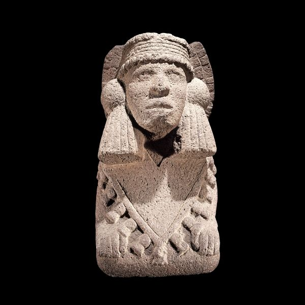 Stone sculpture of Chalchiuhtlicue (Mexica water goddess), AD 1325-1521, From Mexico.
