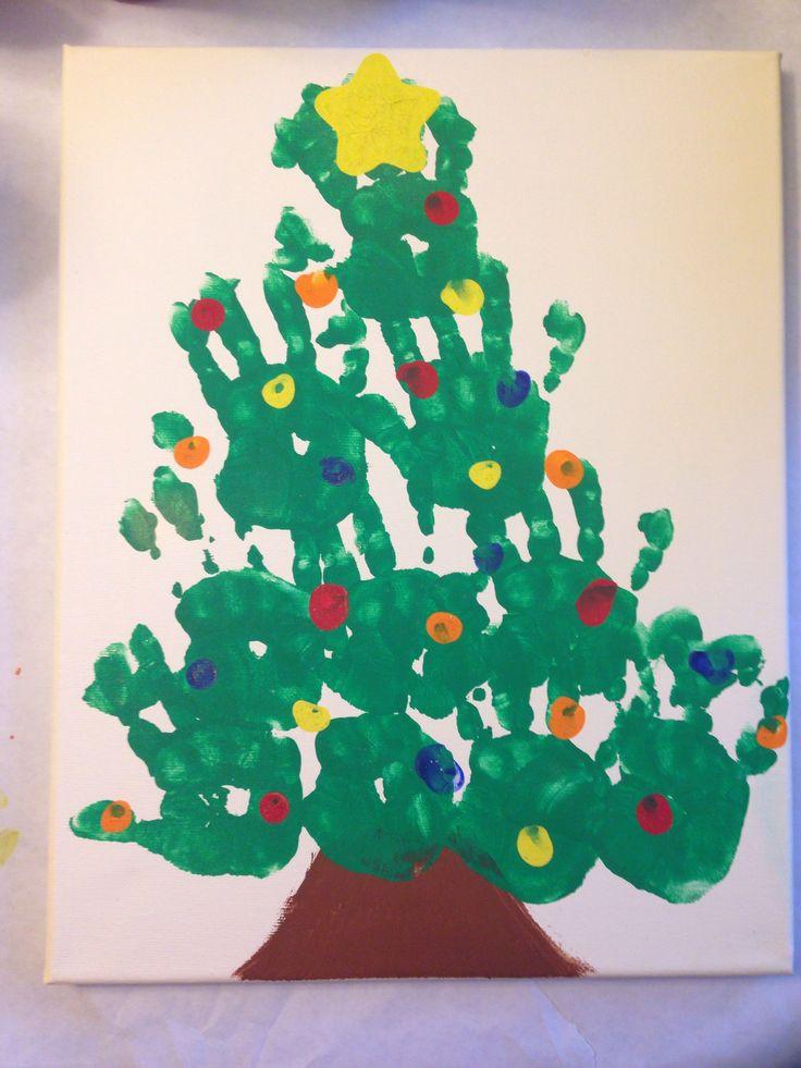 christmas tree handprint - photo #19
