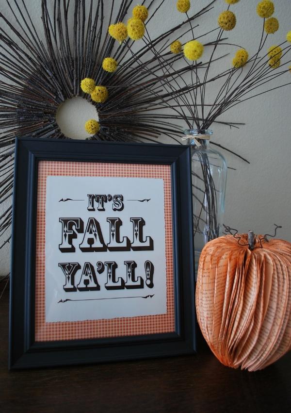 "free fall printable ""It's Fall Ya'll!"""