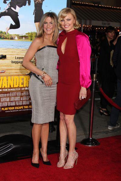 Jennifer Aniston and Justin Theroux at Wanderlust premiere