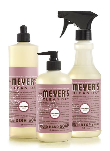 Mrs Meyer's Clean Day products are made from essentials oils, flowers, and herbs instead of harsh chemicals.