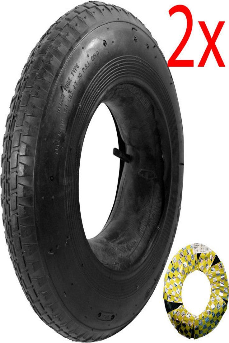 2 X Wheelbarrow Wheel Inner Tube And Barrow Tyre 3 50 8 Rubber Innertube 30psi Ebay Wheelbarrow Wheels Wheelbarrow Wheel