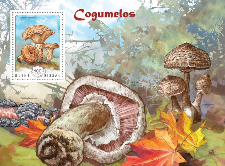 Post stamp Guinea-Bissau GB 14603 b	Mushrooms (Lactarius deliciosus)