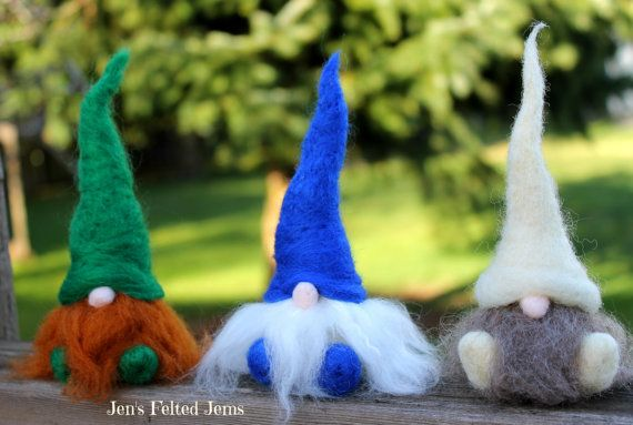 Felt gnome Nisse man tomte by JensFeltedJems on Etsy, $18.00