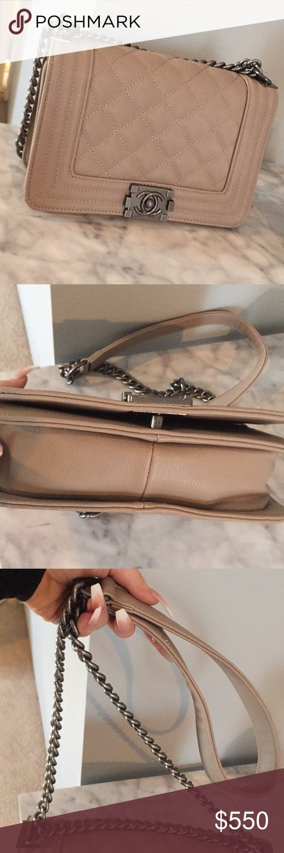 Chanel Tan Jumbo Purse In perfect condition, price r3flects.. no trades please! 🌹🥂 I'm asking $350 for this not $550! CHANEL Bags Shoulder Bags