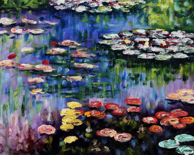 """""""Water Lilies (pink)"""" by Claude Monet came in fourth on overstockArt.com's annual Mother's Day Top 5 Oil Paintings list."""