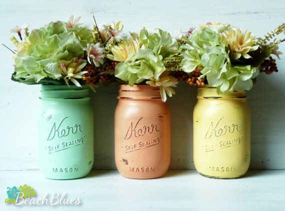 Dorm Decor - upcycled glass jars