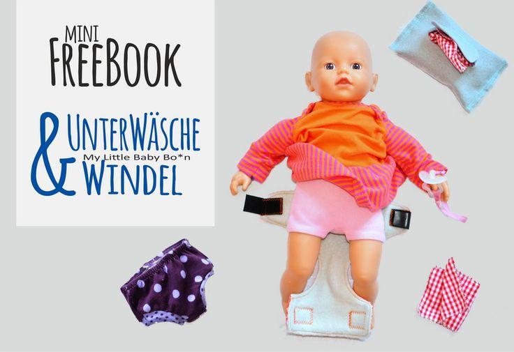 Unterwäsche und Windeln fürs Püppchen {Freebook}