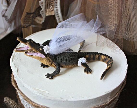 florida gator wedding cake toppers alligator wedding cake topper lover groom 14326