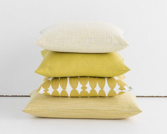 QUICK DETAILS ---------------------  Size: Approx. 18 x 18 (45 x 45cm) or 22 x 22 (55 x 55cm) Colour: Mustard Yellow & White Material: Cotton