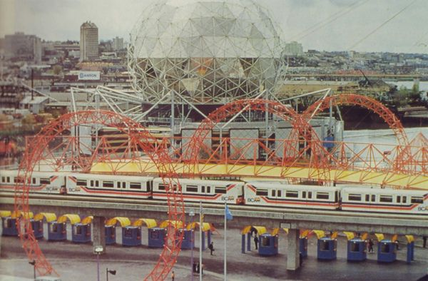 SkyTrain at Expo 86 World's Fair, Vancouver British Columbia, Canada #Expo86 #WorldsFair #Vancouver #BritishColumbia #Canada