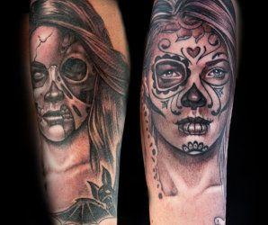 Black & Gray Tattoos by Jesse Smith and Tatu Baby