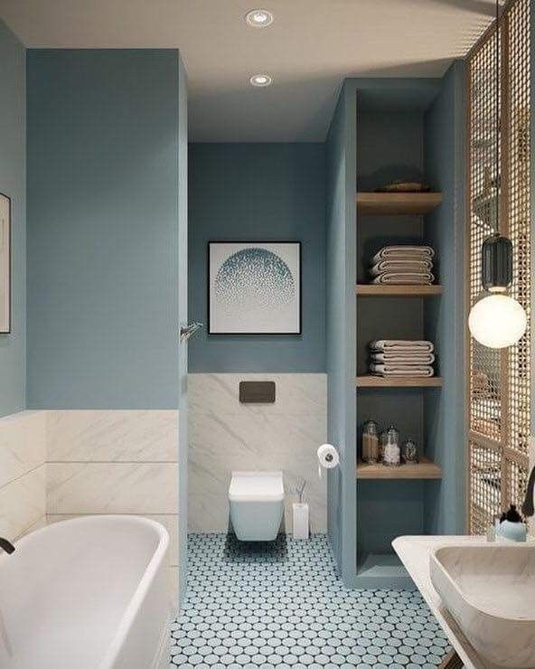Bathroom blues.