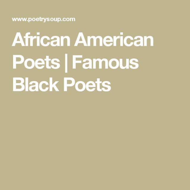 African American Poets | Famous Black Poets