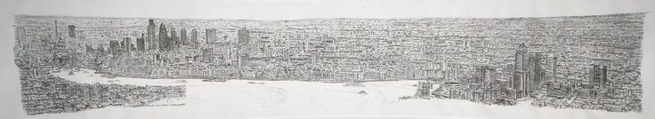 Stephen Wiltshire, who was diagnosed with autism at the age of three, memorized the appearance and position of hundreds of London's buildings in exact scale during a helicopter ride along the Thames.