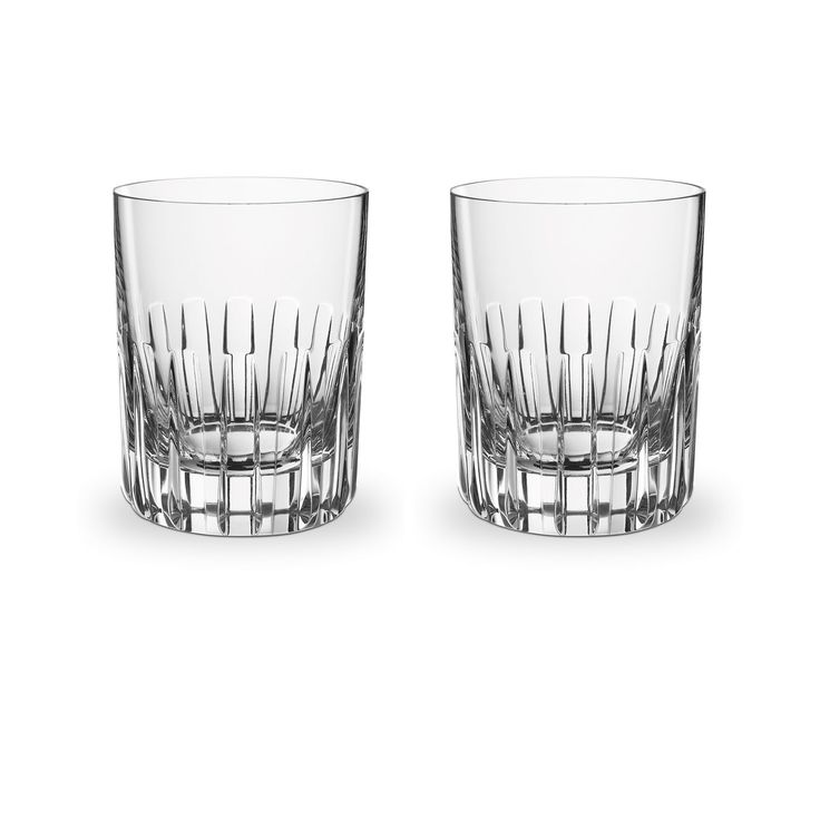 High Quality Rotary Tumbler Set Of Two   Baccarat Tumblers U0026 Highballs   Fine Crystal  Bar U0026 Tableware