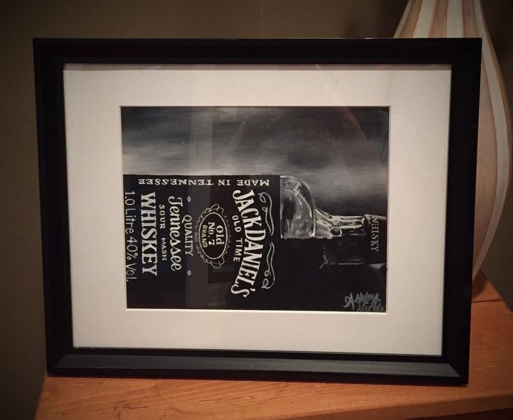 A personal favorite from my Etsy shop https://www.etsy.com/listing/262749915/hand-painted-jack-daniels-acrylic