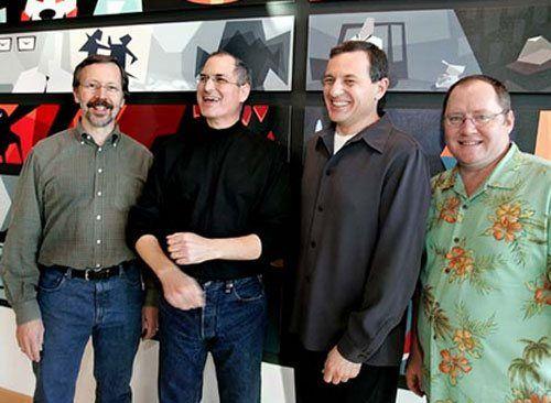 Ed Catmull, Steve Jobs, Bob Iger and John Lasseter (pixar)