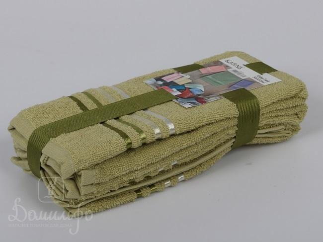 Набор полотенец BALE зеленый 30х50 (3шт) от Karna (Турция) - купить по низкой цене в интернет магазине Домильфо