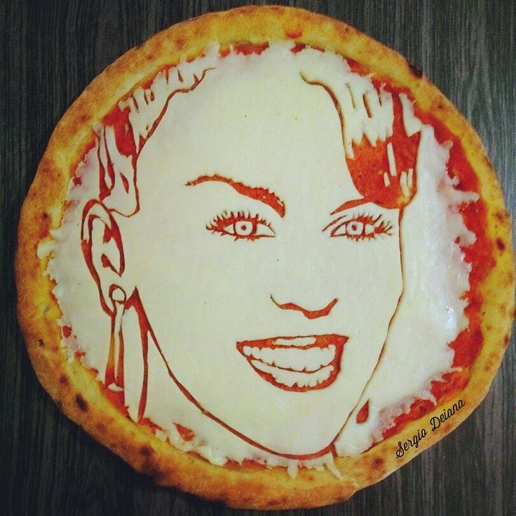 Pizz art Kylie Minogue by Sergio Deiana