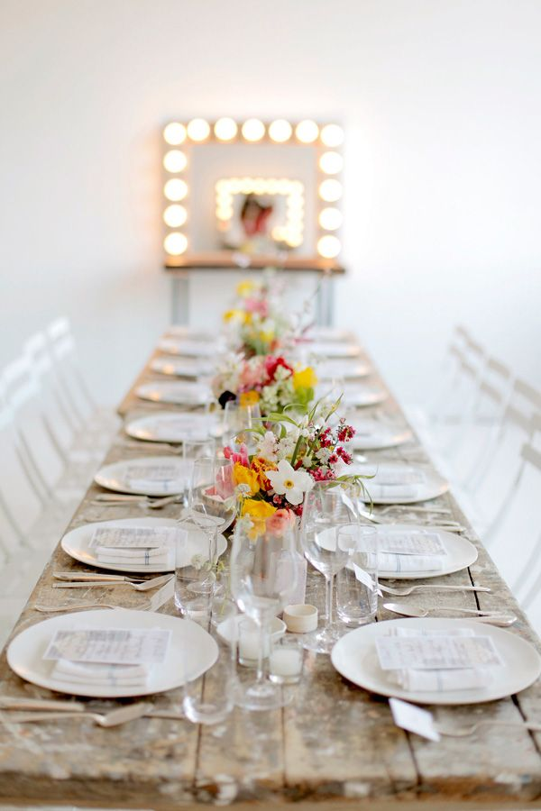 a spring dinner party in NYC. photo by belathee. styling by jenn elliott blake. location drift studio. decor from abc carpet and home.