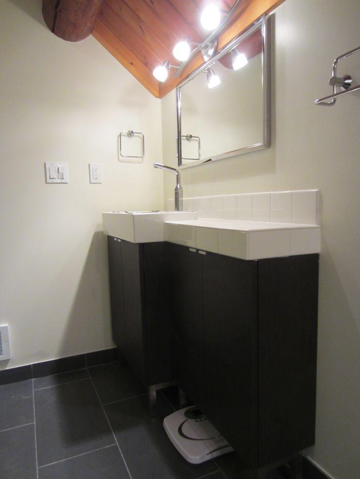 7 Corner Bathroom Cabinet Ikea Towel Hanger Black Tile