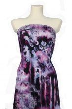 luxusní, elastický úplet fialové vzory