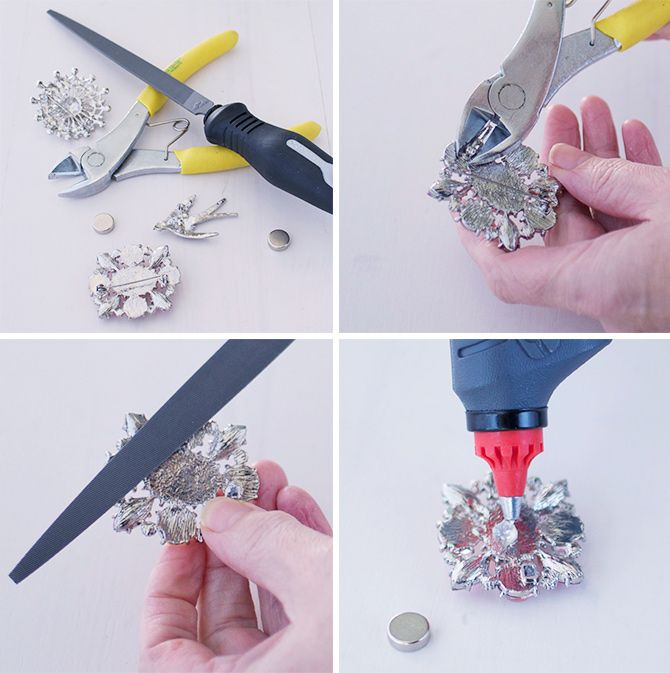 How To Make Brooches Into Decorative Fridge Magnets Diy Oregon Pinterest And Repurpose