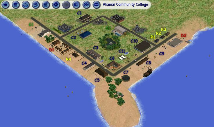 ModTheSims - Akamai Community College - 19 New Lots for Your Exotic Universities!