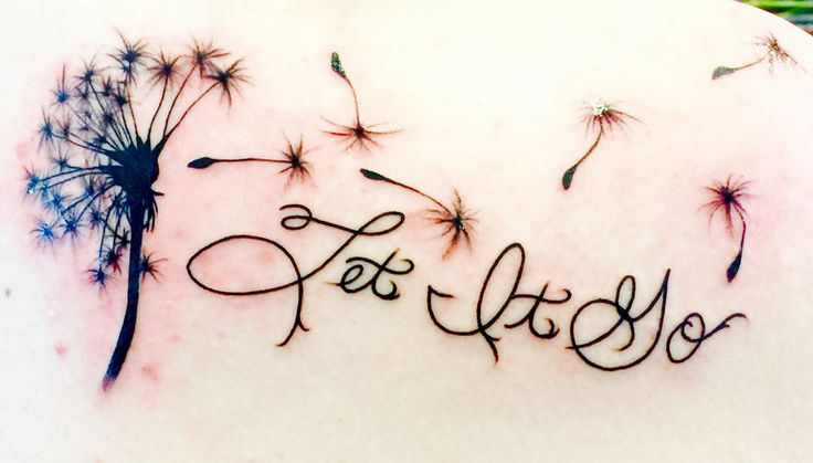 Let It Go Tattoo with Dandelion