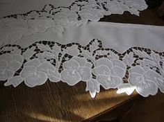 cutwork embroidery | Rose Grey Thread Hand Embroidery Cutwork Cotton Doily Placemat - Google Search