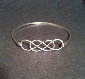 Silver Infinity Bangle / Personalized Infinity Bangle/ Sterling Infinity Bangle / Infinity Bracelet / Bride / Bridesmaids / Wedding on Etsy, $28.00