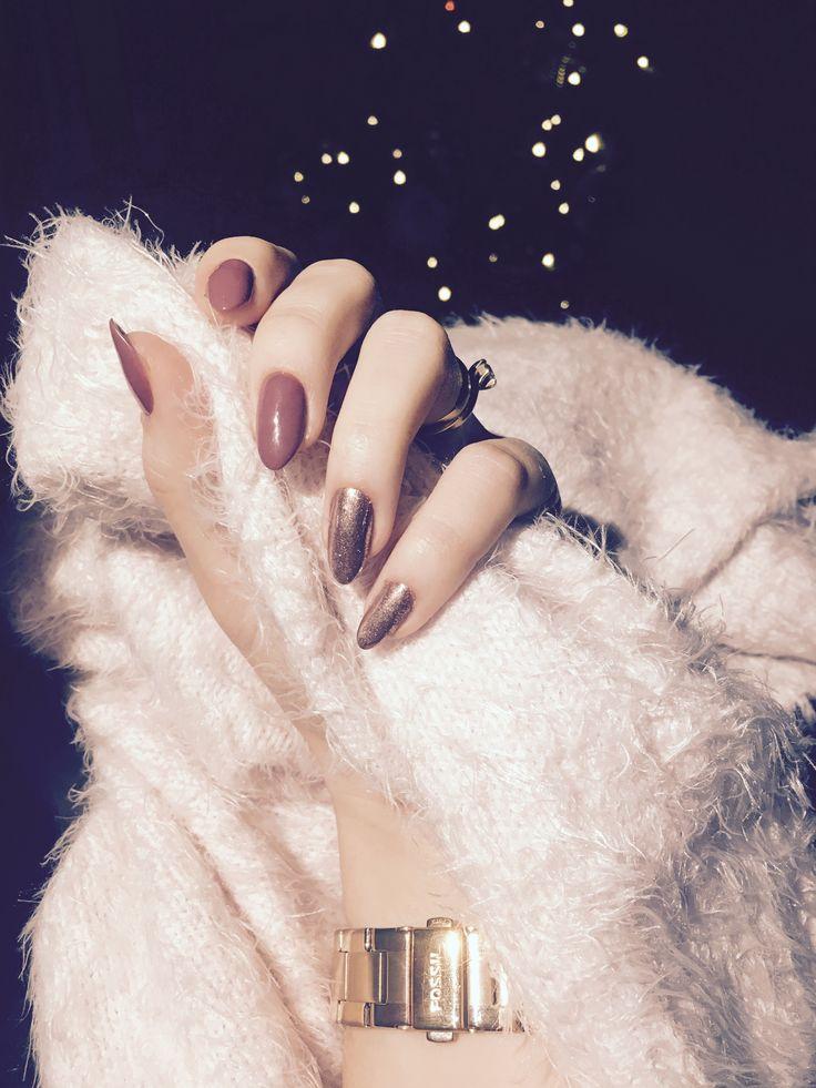 Diy hybrid nails Indigo MetalManix pink gold Neonail Nude