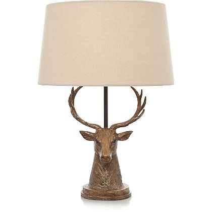 George Home Stag Head lamp | Home & Garden | George