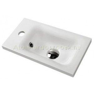 Marmy ZOE 40x22 fényes fehér mosdó