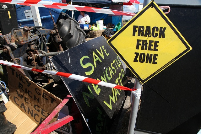 Fullerton Cove: Frack Free Zone by lockthegate, via Flickr