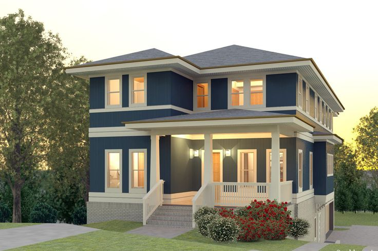 Contemporary style house plan 5 beds 3 5 baths 3193 sq for Houseplans com craftsman