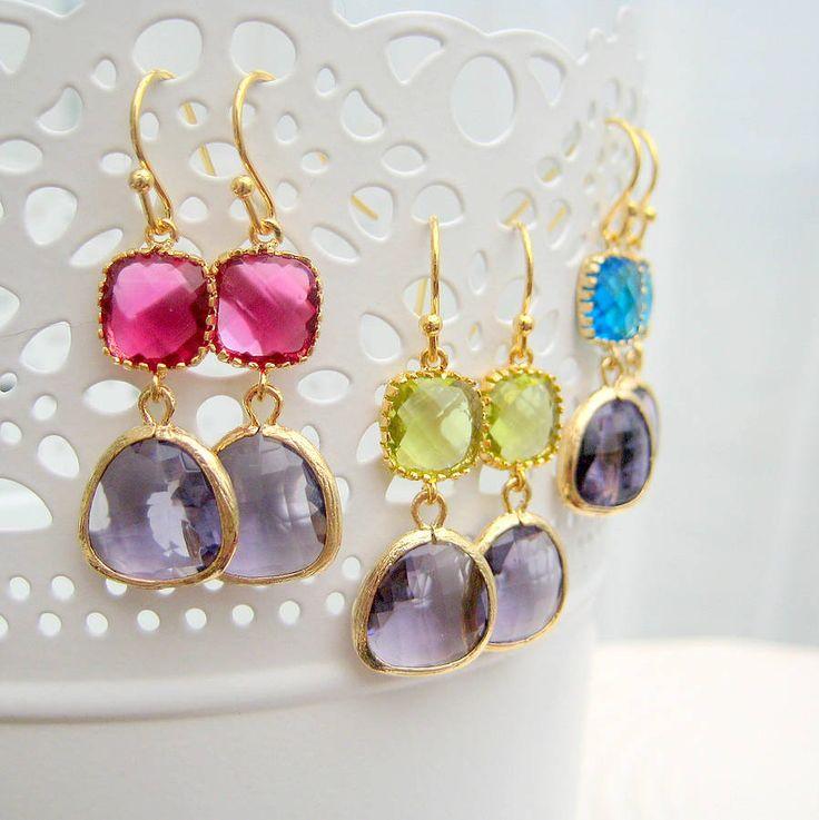 'Peacock' Earrings