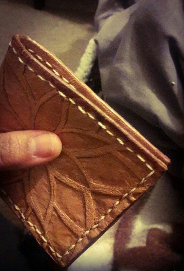 2. billetera cuero, modelo pincoya
