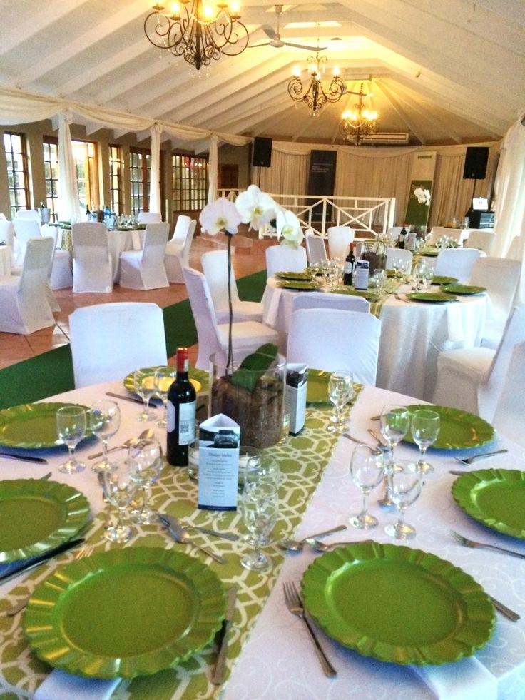 Green & White Function @ Three Oaks Venue in Centurion www.threeoaks.co.za