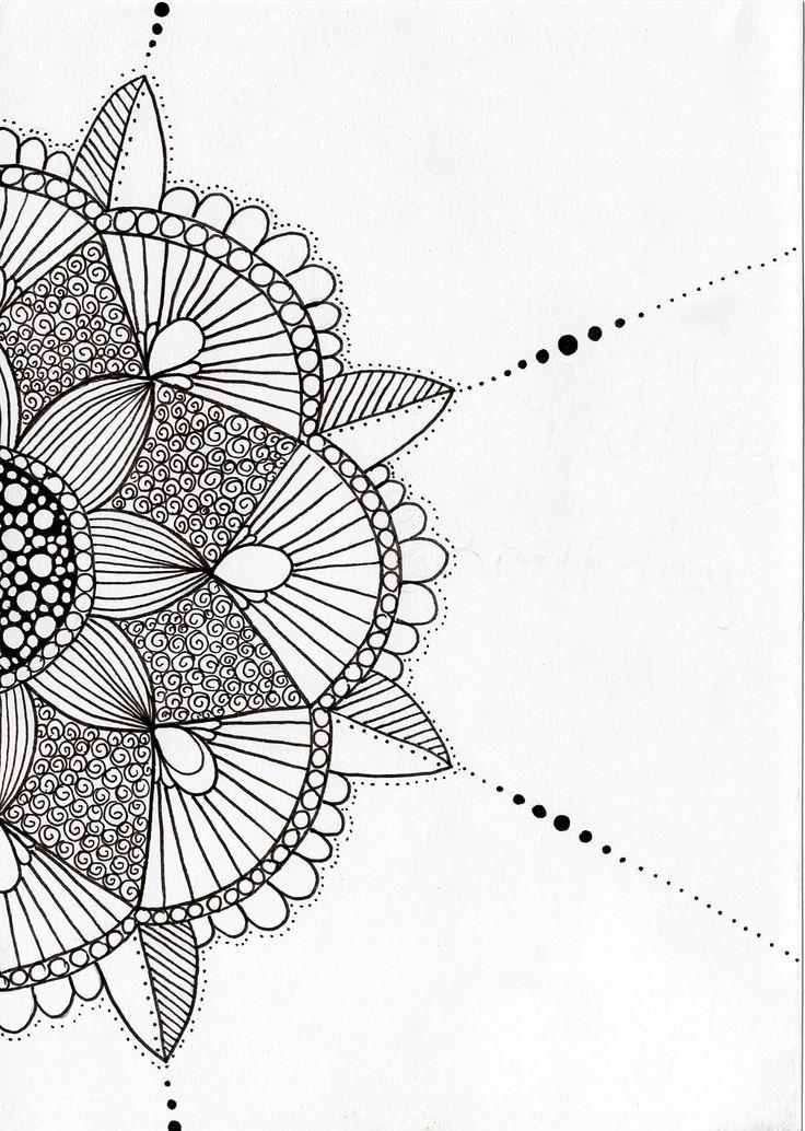 Handgemaakte tekening van Zen met NEI