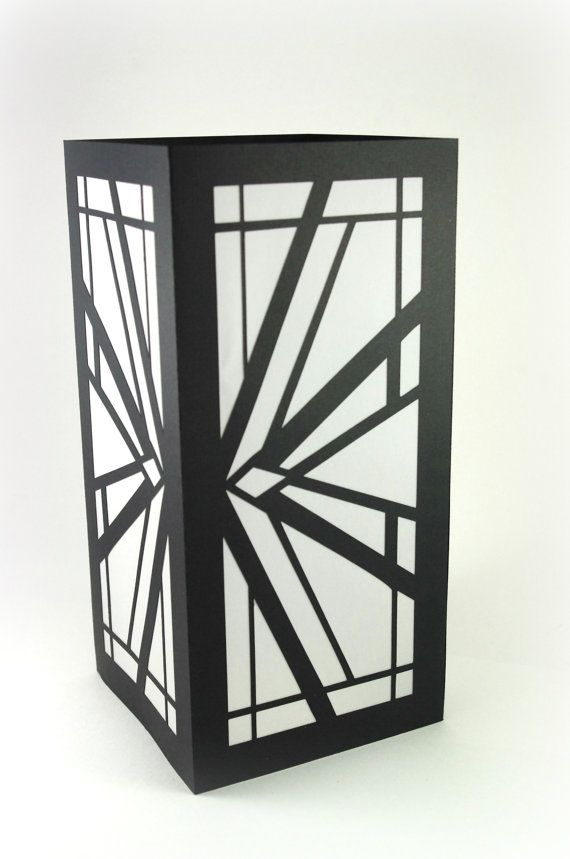 $19.09 Art Deco Luminaries Black White Wedding by MinksPaperie on Etsy