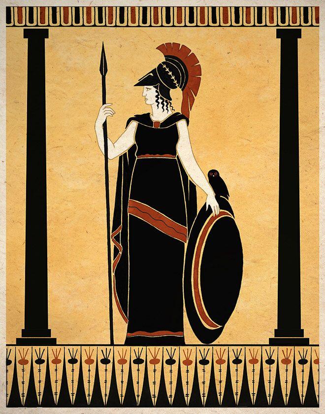 Ancient Goddess Athena Minerva Greek Roman Art Print Wall Etsy Greek Mythology Art Ancient Roman Art Ancient Greek Art